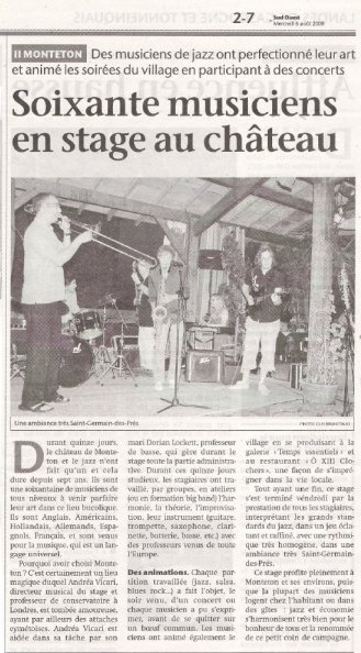 Dordogne Jazz Summer School